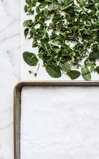 Herb Salt with sage, basil thyme and rosemary (Rebecca White/Special Contributor)