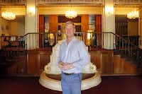 Developer Jim Lake Jr. in the lobby of the Ambassador Hotel south of downtown Dallas.(Tom Fox/Staff Photographer)