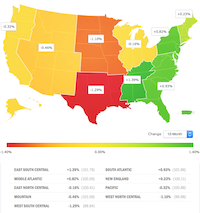 <p></p><p>Paychex analyzes regional job data. Percentages are based on a 12-month change.</p>(Source: Paychex, Inc.)