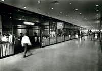 The Dallas Pedestrian Network downtown was a cooler place to be in the summer of 1981 under the First International Building.(File Photo)