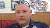 <br>(Officer Brent Thompson graduated from Corsicana High School and has strong family ties to the town. (LinkedIn))
