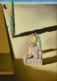 Salvador Dali's <i>L homme poisson, 1930</i>. Oil on canvas. Meadows Museum, SMU, Dallas. Brad Flowers/The Meadows Museum