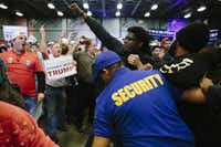 Protesters were ejected from a Trump rally in March in New Orleans.(Edmund D. Fountain/The New York Times)