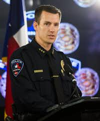 "<p>Arlington Police Chief Will Johnson: ""If we put all our hope in a technology solution for a human problem, we will be disappointed.""</p>Ashley Landis/Staff Photographer"