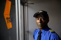 DART bus driver Don Washington stands for a portrait in Dallas Area Rapid Transit headquarters in Dallas on Monday. (Andy Jacobsohn / Staff Photographer)