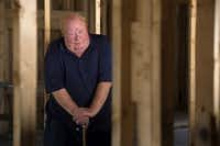 Michael Thompson, whose Garland home was severely damaged by the tornado that tore through his neighborhood last December, stands inside inside his new home, which is finally under construction after a six-month battle with an insurance company. (<p>Jeffrey McWhorter/Special Contributor<br></p><p></p>)