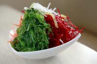 Seaweed salad from Zen Sushi in the Bishop Arts District.(Ben Torres/Special Contributor)