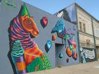 The new Grand River Creative Corridor displays an outdoor parade of eye-popping murals. (Robin Soslow)