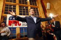 Ted Cruz will be watched closely for how much he opens his arms to Donald Trump.(Nicki Kohl, AP Photo/Telegraph Herald)