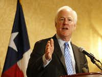 Sen. John Cornyn attended a breakfast with the Texas delegates on the second day of the Republican National Convention in Cleveland.Vernon Bryant/Staff Photographer