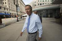 Ohio Gov. John Kasich leaves a mall housing the Ritz Carlton Hotel in downtown Cleveland on the first day of the Republican National Convention in the city, July 18.Stephen Crowley/The New York Times