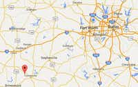 The red marker is where Sidney ISD is situated in Comanche Country, about 160 miles southwest of Dallas.(Courtesy of Google)