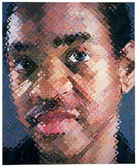 Chuck Close, <i>Lyle</i>, 1999. Oil on canvas. Whitney Museum of American Art; Gift of The American Contemporary Art Foundation, Inc., Leonard A. Lauder, President.   Chuck Close, courtesy Pace Gallery(Chuck Close/Chuck Close)