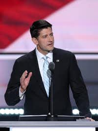 "House Speaker Paul Ryan, a reluctant Donald Trump supporter, acknowledges intra-party disagreements but says they are ""signs of life.""(Daniel Acker/Bloomberg)"