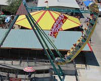 Pharaoh's Fury is a ride at Traders Village in Grand Prairie.