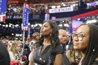Omarosa Manigault is Donald Trump's director of African-American Outreach. She appeared on Trump's <i>The Apprentice</i> and <i>Celebrity Apprentice</i>.  (Sam Hodgson/The New York Times)