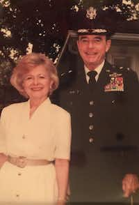 Maj. Gen. Don Payne pictured with his wife, Elsie Marie Payne, in Garland.(Family of Don Payne)
