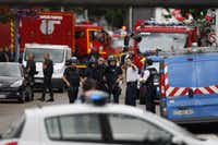 """<p>A priest was killed<span style=""""font-size: 1em; line-height: 1.364; background-color: transparent;"""">in Saint-Etienne-du-Rouvray, northern France,</span><span style=""""font-size: 1em; line-height: 1.364; background-color: transparent;"""">on July 26 when men armed with knives seized hostages at a church near the northern French city of Rouen, a police source said. Police said they killed two hostage-takers in the attack in the Normandy town of Saint-Etienne-du-Rouvray, 125 kilometres (77 miles) north of Paris.</span></p>(CHARLY TRIBALLEAU/AFP/Getty Images)"""