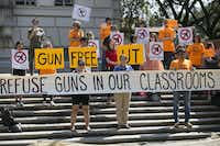 <p>State law requires public universities to allow concealed handguns in classrooms and buildings starting Monday. Over the past year, there have been protests on campuses throughout the state.</p>(<p>Ralph Barrera/Austin American-Statesman</p>)