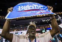 Charles Brave of Charleston, S.C. was loud and proud in his support for Bernie Sanders on Tuesday night at the Democratic National Convention. (Ashley Landis/Staff Photographer)