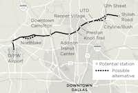 DART officials on Tuesday revised the cost estimate for the Cotton Belt Line from $994 million to $1.1 billion.