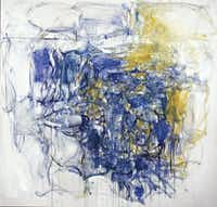 Joan Mitchell, Hudson River Day Line, 1955. Oil  paint on canvas; 79 83 in. Collection of the  McNay Art Museum. Museum purchase with  funds from the Tobin Foundation. Estate of  Joan Mitchell.Denver Art Museum