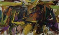 Elaine de Kooning, Bullfight, 1959. Oil on canvas; . Denver Art Museum: Vance  H. Kirkland Acquisition Fund. Elaine de Kooning TustDenver Art Museum