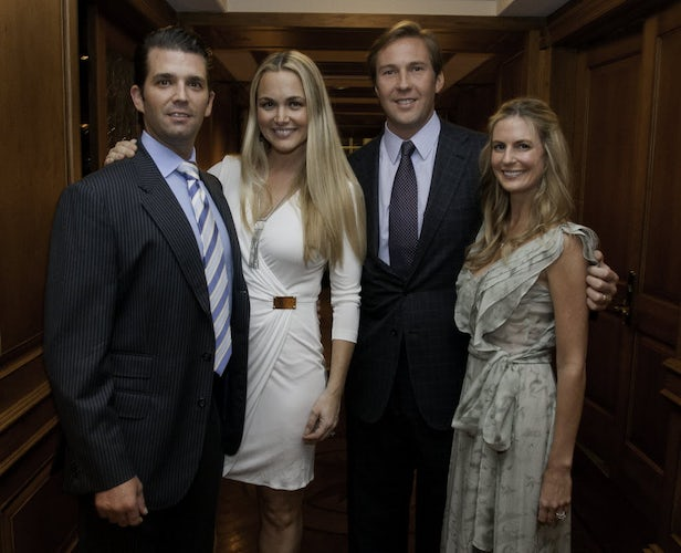 From left to right: Don Trump Jr., his wife Vanessa, Tom Hicks Jr. and his wife, Alexandra, attended a fundraiser for Operation Smiles at the Old Parkland ...