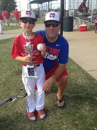 Sean Copeland and son Brodie.(Heather Copeland/TNS)