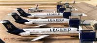 The Legend planes, parked after the 2001 bankruptcy.((David Woo/The Dallas Morning News))