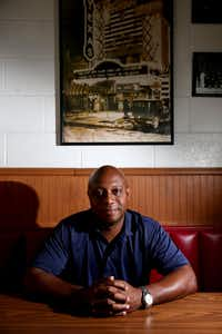 Reginald Collins of Oak Cliff is a unicorn in this year's election, a black Republican who plans to vote for Donald Trump.(<p>Rose Baca/The Dallas Morning News<br></p><p></p>)
