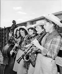 The Goree All-Girl String Band performs at the Texas Prison Rodeo in Huntsville. The group was immensely popular both behind bars and among fans in the community.(Texas Department of Criminal Justice)