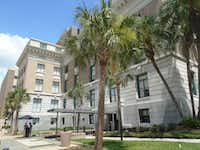 The Infiltrator  film locations include a grand courthouse dating to 1905, recently transformed into the hip, gorgeous Le Meridien Tampa hotel.(Robin Soslow)