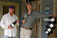 "<p><span style=""font-size: 1em; line-height: 1.364; background-color: transparent;"">Bill Blackmon and Chris Brundrett of William Chris Vineyards in Hye.</span></p>(<p><span style=""font-size: 1em; line-height: 1.364; background-color: transparent;"">Miguel Lecuona</span></p>)"