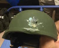 This Kevlar helmet is believed to have saved the life of an Orlando police officer who responded to the nightclub shooting on June 12.(Courtesy Orlando Police)
