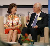 Randy Best is a well-known Dallas entrepreneur. He and his wife, Nancy, spoke about their collection of art, fossils and ancient artifacts at the Perot Museum of Nature and Science in April.(Rose Baca/Staff Photographer)