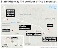 State Highway 114 corridor office campus(Laurie Joseph/Staff artist)