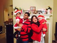 Raj and Samira Siwakoti with their young children.(Facebook)