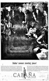 The ad that appeared in The Dallas Morning News on January 27, 1963