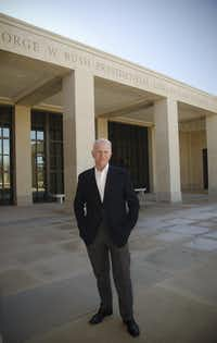 Jim Glassman former executive director of the George W. Bush Institute (File photo)