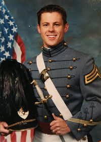 Brad Hunstable's portrait was taken in 2001 upon graduation from West Point. After 9/11, Brad had friends and classmates who were deployed overseas. Their experience of missing important life moments helped to inspire Ustream.(Courtesy of Fred Hunstable)