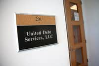 The office suite of United Debt Services.(Rose Baca/Staff Photographer)