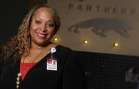 "Tia Simmons, the new principal at Duncanville High School, said the campus at Spring High School felt like family to her. ""I'm a Panther now.""(Louis DeLuca/Staff Photographer)"