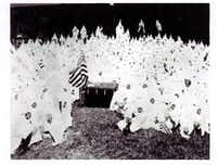 "<p><span style=""font-size: 1em; line-height: 1.364; background-color: transparent;"">Ku Klux Klan meeting - 1923 </span></p>(<p>From the collection of the Texas/Dallas History <span style=""font-size: 1em; line-height: 1.364; background-color: transparent;"">and Archives Division, Dallas Public Library</span><br></p><p></p>)"