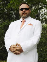 "This April 28, 2016 photo shows Brent Waller, Mississippi grand dragon and spokesman for the Tennessee-based Ku Klos Knights of the Ku Klux Klan. Waller has since become the imperial wizard of the United Dixie White Knights of the Ku Klux Klan. He has boyhood memories of flaming crosses and of Sam Bowers, a Klan boss who served six years in prison for his role directing the murders of three civil rights workers in 1964, and who later was convicted of killing a civil rights leader in 1966. (<p><span style=""font-size: 1em; line-height: 1.364; background-color: transparent;"">AP Photo/Jay Reeves</span><br></p><p></p>)"
