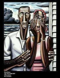 """David Bates' The Flood appearing as part of the 2008 exhibit, """"The Storm,"""" at the Talley Dunn Gallery. (David Bates/Talley Dunn Gallery)"""