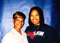"<p><span style=""font-size: 1em; line-height: 1.364; background-color: transparent;"">Sharanda Jones, left, and attorney Brittany Barnett-Byrd during their first meeting at Carswell federal prison in Fort Worth in 2009. Barnett-Byrd was in law school at Southern Methodist University at the time.</span></p>(Courtesy of Brittany Barnett-Byrd)"