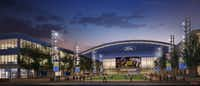 Rendering of The Ford Center at The Star in Frisco, the Dallas Cowboys' new world headquarters and multi-use event center.(Dallas Cowboys)