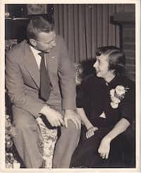 <p>Larry and Jo Whitford, who married Nov. 7, 1953, at the Rockwall County Courthouse, moved all over with their family during his years in the Air Force.</p>((Nancy Eger))