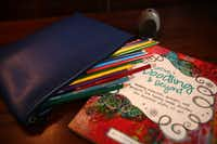 A portable creativity pouch inside Jill Allison Bryan's creativity space at her home in Dallas on Aug. 18, 2016. (Rose Baca/The Dallas Morning News)Staff Photographer